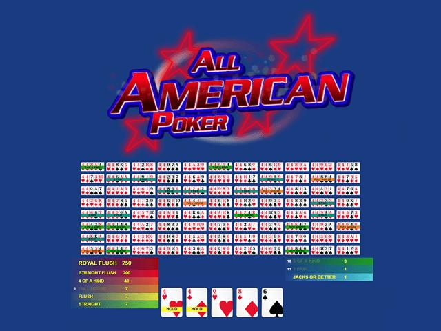 All American Poker - игровой автомат